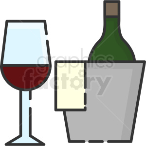 wine and cooler vector icon art clipart. Royalty-free image # 406106