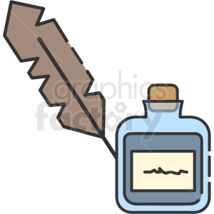 quill and ink vector icon art clipart. Royalty-free image # 406114
