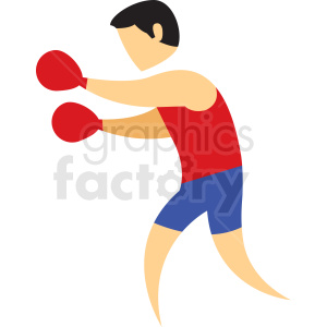 boxing sport icon clipart. Commercial use image # 406205