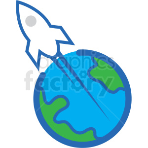 rocket launch from earth vector icon clipart. Commercial use image # 406225
