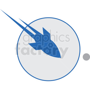 rocket traveling space vector icon clipart. Royalty-free image # 406237
