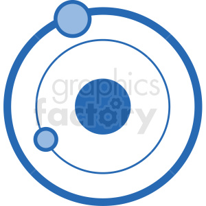 planets orbiting vector icon clipart. Royalty-free image # 406245