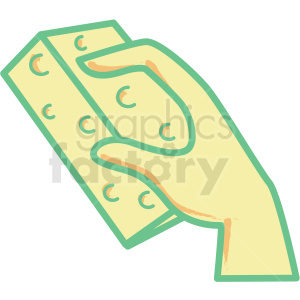 hand holding sponge flat vector icon clipart. Commercial use image # 406338