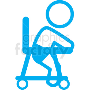 baby walker icon clipart. Royalty-free image # 406345