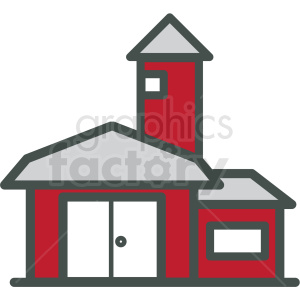 barn vector icon clipart. Commercial use image # 406438