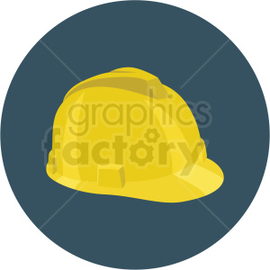 construction hard hat vector flat icon clipart with circle background clipart. Commercial use image # 406682