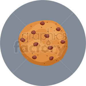 chocolate chip cookie vector flat icon clipart with circle background clipart. Royalty-free image # 406694