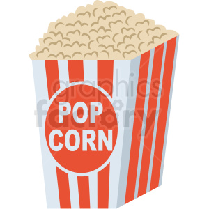 popcorn vector flat icon clipart with no background clipart. Royalty-free icon # 406698