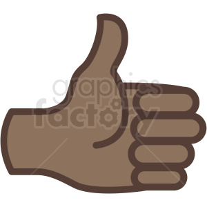 african american thumbs up hand vector icon clipart. Commercial use image # 406786