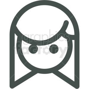 girl avatar vector icons clipart. Commercial use icon # 406806