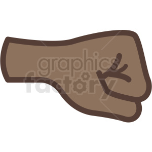 african american fist vector icon clipart. Royalty-free image # 406807