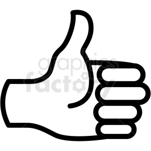 thumbs up hand vector icon clipart. Commercial use image # 406814