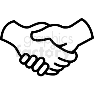 handshake vector icon clipart. Commercial use image # 406828