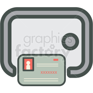 credit card safe vector icon clipart. Royalty-free image # 406892