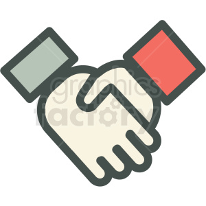 handshake agreement vector icon clipart. Commercial use image # 406896