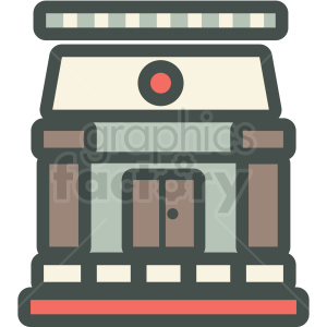 building vector icon clipart. Royalty-free image # 406905