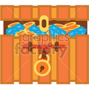 treasure chest vector game art icons clipart. Commercial use image # 407107
