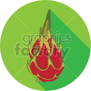 dragon fruit on circle background flat icon clip art