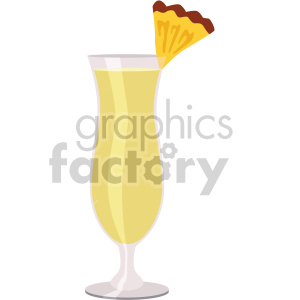 pina colada glass flat icons clipart. Royalty-free image # 407161