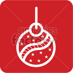 white christmas ornament vector icon clipart. Royalty-free icon # 407238