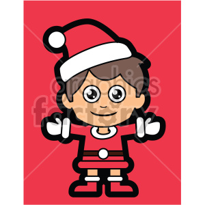 guy dressed in santa claus suit on red background vector clip art clipart. Royalty-free image # 407258