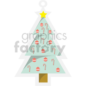 christmas tree tag clipart clipart. Royalty-free image # 407265