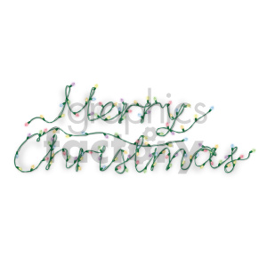 merry christmas word in christmas lights no background clipart. Royalty-free image # 407274