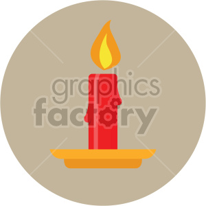 christmas candles on tan circle background icon clipart. Commercial use image # 407323