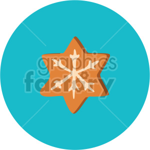 christmas cookie on blue circle background icon