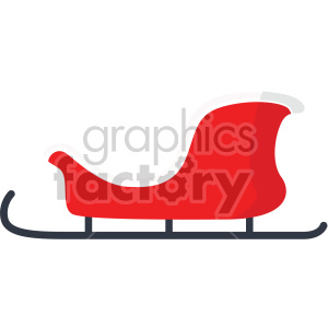 christmas sleigh icon clipart. Royalty-free image # 407334