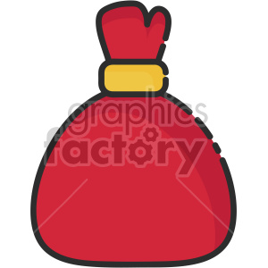 red santa bag christmas icon clipart. Royalty-free image # 407347
