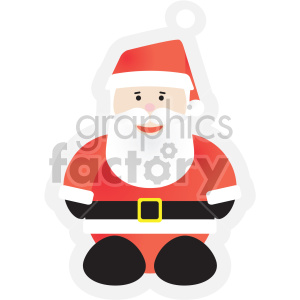 christmas santa tag clipart. Commercial use image # 407379