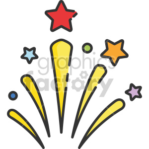 firework bursting clipart. Commercial use image # 407431