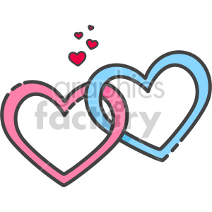 interlocked hearts clipart. Commercial use icon # 407433