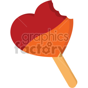 heart popsicle for valentines vector icon no background clipart. Commercial use icon # 407459