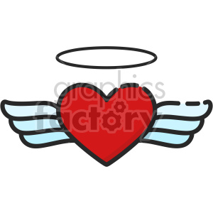 heart with angel wings clipart. Royalty-free image # 407496