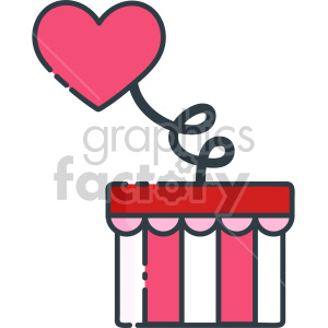 surprise heart clipart. Royalty-free image # 407505