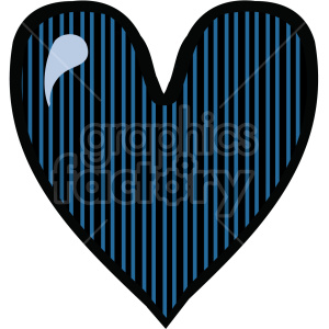 dark blue heart clipart. Royalty-free image # 407525