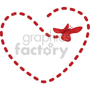 valentines love cartoon flight+pattern butterfly flying heart