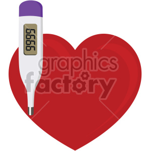 heart with thermometer no background clipart. Royalty-free image # 407604
