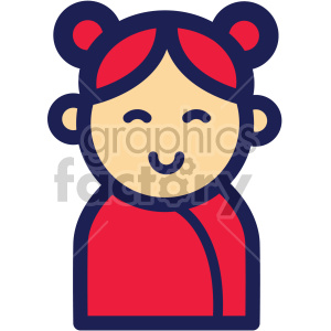 chinese new year asian woman clipart. Commercial use image # 407630