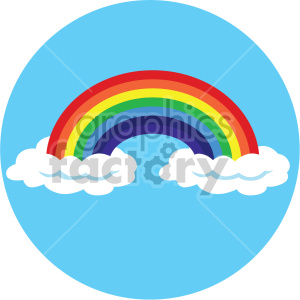 st patricks day rainbow on circle background clipart. Royalty-free image # 407660