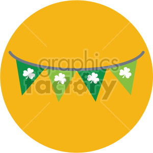 st patricks day banner on circle background