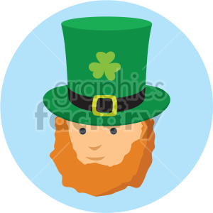 st patricks day leprechaun on circle background clipart. Commercial use image # 407668