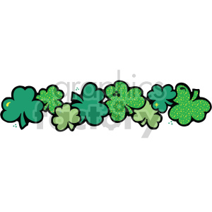 shamrock clover banner 001 c clipart. Royalty-free icon # 407697