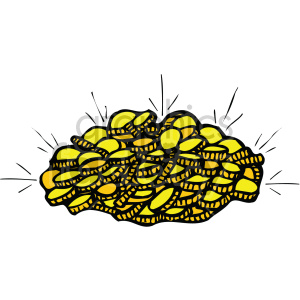 st pattys pile of gold coins 002 c clipart. Commercial use image # 407699