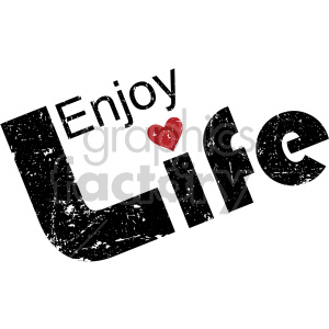 distressed enjoy life word clipart. Commercial use image # 407735
