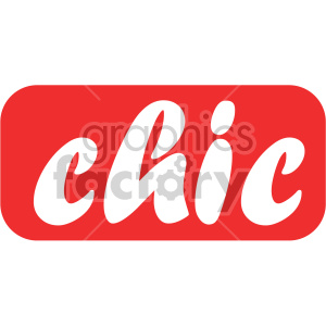 chic text word clipart. Royalty-free image # 407741