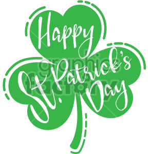 happy st patricks day on shamrocks clipart. Royalty-free image # 407747