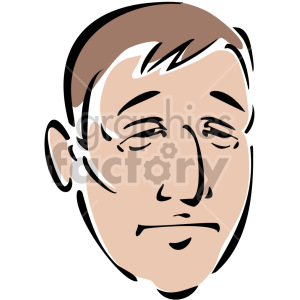 sad face clipart. Royalty-free image # 157313
